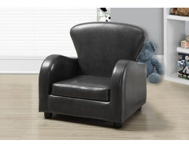 Monarch JUVENILE CHAIR - CHARCOAL GREY LEATHER-LOOK I8141