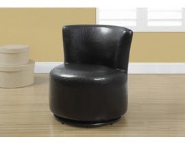 Monarch JUVENILE CHAIR - SWIVEL / DARK BROWN LEATHER-LOOK I8150