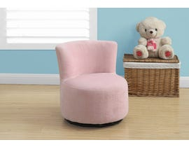 Monarch JUVENILE CHAIR - SWIVEL / FUZZY PINK FABRIC I8152
