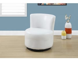 Monarch JUVENILE CHAIR - SWIVEL / WHITE LEATHER-LOOK I8153