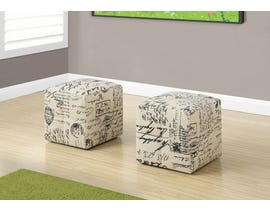 Monarch 2pcs Fabric Juvenile Ottoman in Vintage French I8162