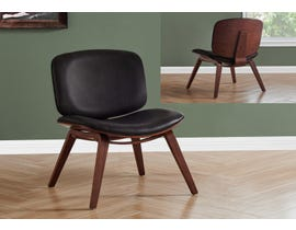 Monarch Leather Look Accent Chair in Dark Brown I8168