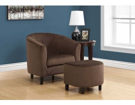 Monarch Accent Chair 2 Piece Set Dark Brown Quilted Fabric 8239