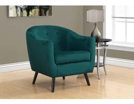 Monarch Mosaic Velvet Accent Chair in Emerald Green I8253