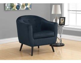 Monarch Mosaic Velvet Accent Chair in Dark Blue I8254