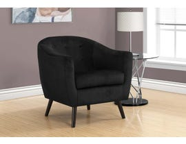 Monarch Accent Chair Dark Black Mosaic Velvet 8255