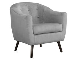 Monarch Mosaic Velvet Accent Chair in Grey I8258
