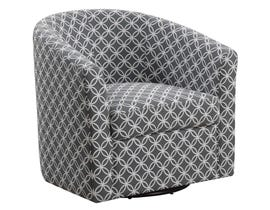 Monarch Accent Chair Swivel Grey Circular Fabric  8269