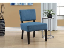 Monarch Accent Chair Blue Fabric 8280