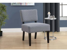 Monarch Abstract Dot Fabric Accent Chair in Light Dark Blue 8292