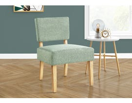 Monarch Fabric Accent Chair in Light Green I8294