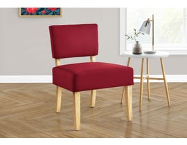 Monarch Fabric Accent Chair in Red I8295