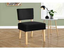 Monarch Fabric Accent Chair in Black I8297
