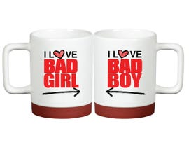 "Bad ""Boy"" Bad ""Girl"" couple mug - Special Edition (Pair)"