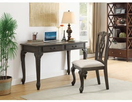 International Furniture Wood Desk and Chair Set in Grey Wash IF-030