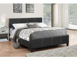 Upholstered Platform Bed in Black IF-165
