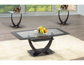 International Furniture Tempered Glass Coffee Table in Black IF-2007-C