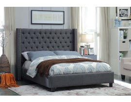International Furniture Fabric Bed in Grey IF 5897
