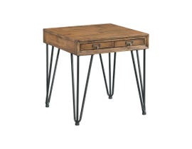 High Society Boone Collection End Table in Natural Rustic TBN100