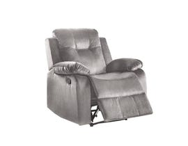 L-style power fabric recliner in grey U1294W