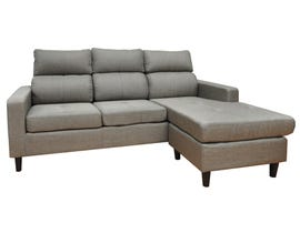 Modern Furniture Fabric Sectional in Stone Grey MS-G
