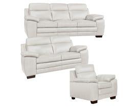 A&C Furniture Leather 3Pc Sofa Set in Iceberg 1010