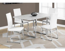 Monarch 5-Piece Metal Dining Set in White 1122