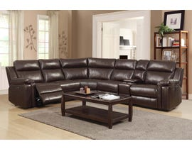 e5292a94a48d54 High Society Jamestown 6 pc Power Recline Sectional Brown UJW121