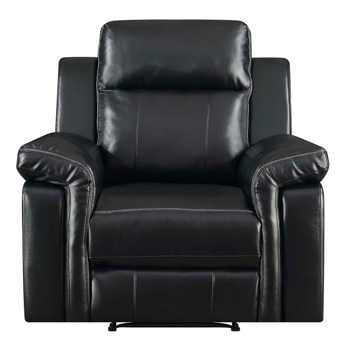 High Society Jamestown Collection Manual Recliner in Black UJW120