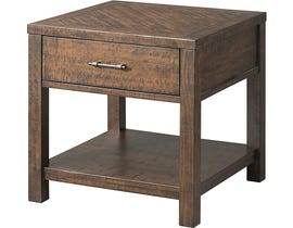 High Society Jax Collection End Table in Walnut TJX100