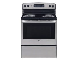 "GE Appliances 30"" Free Standing Electric Self Cleaning Range JCB530SMSS"