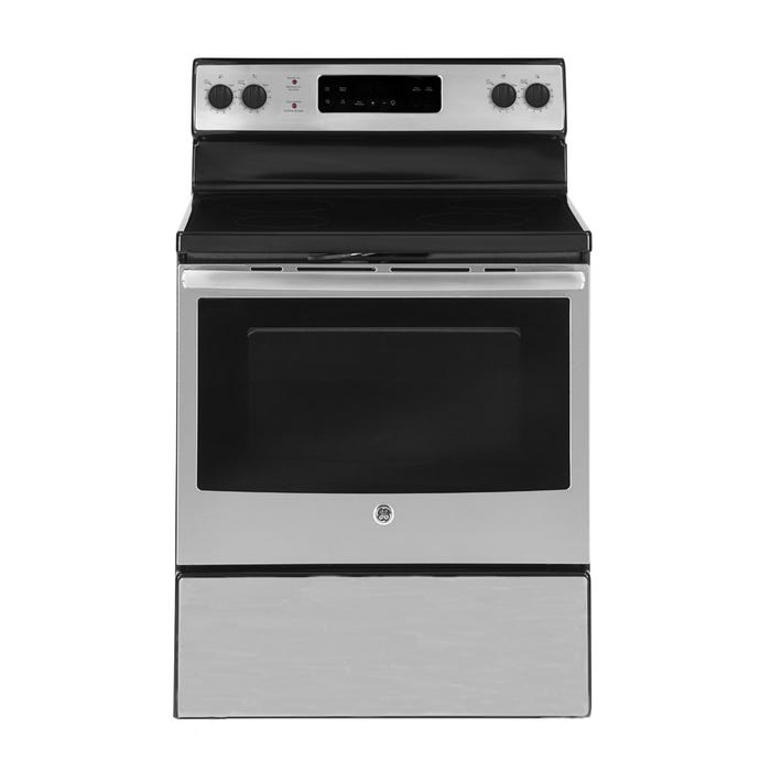 GE 30 INCH 5.0 CU.FT. Free Standing Electric Standard Clean Range JCBS630SKSS