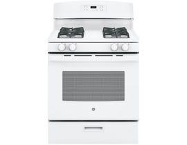 """GE Appliances 30"""" 5.0 cu. ft. Free-Standing Gas Range in White JCGBS60DEKWW"""