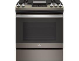 GE Appliances 5.4 Cu.Ft. Slide-In front Control in Premium Slate JCGSS66EELES