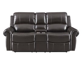 High Society Vanetta Series Manual Reclining Loveseat in Espresso UJNxx