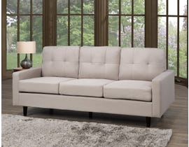 Brassex Tufted 3-Seater Sofa in Beige JF1207-BEI
