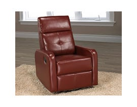 Brassex Swivel Rocker Recliner Red JF657-REC-RED
