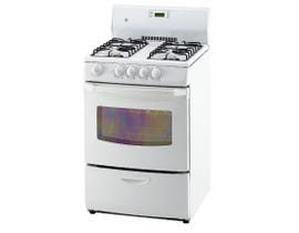 GE 24 inch 3.0 cu.ft. Freestanding 4-Burners Gas Range in White JGAS730ELWW