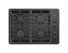 GE Appliances 30 inch 4-Burner Built-In Gas Cooktop in Black JGP3030DLBB