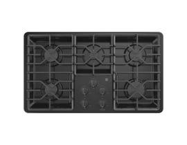 "GE Appliances 36"" Built-In Gas Cooktop in Black JGP3036DLBB"