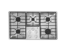 "GE Appliances 36"" Built-In Gas Cooktop in Stainless Steel JGP3036SLSS"