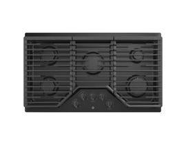 GE Appliances 36 inch 5-Burner Built-In Gas Cooktop in Black JGP5036DLBB