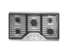 "GE Appliances 36"" Built-In Gas Cooktop in Stainless Steel JGP5036SLSS"