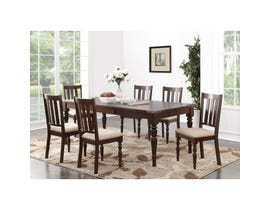 Brassex Claudia Dining Table with 18-inch Leaf Espresso JN-5142 (Table)
