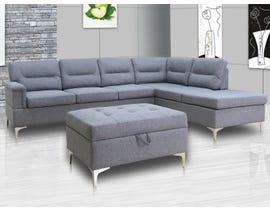 Primo International Jonni 2-pc Sectional Sofa Set in Grey
