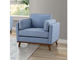 Brassex Jaxon Collection Fabric Chair in Blue 8220