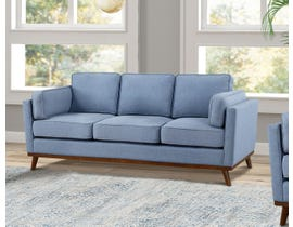 Brassex Jaxon Collection Fabric Sofa in Blue 8220