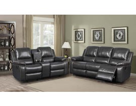 K Elite 3 Piece Alice Living Room Sofa Set in Brown K-550SLC-BR