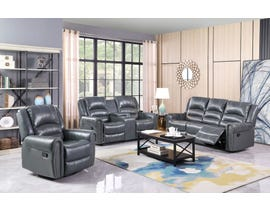 Darby Leathaire Series 3pc Reclining Sofa Set in Grey K808-S-L-C-GR