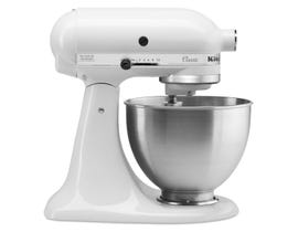 KitchenAid Classic Series 4.5-Quart Tilt-Head Stand Mixer in White K45SSWH